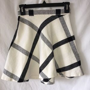 Urban Outfitters off white plaid flannel skirt